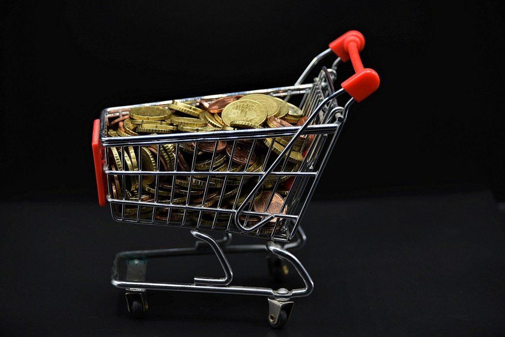 shopping cart, coins, money-5196890.jpg